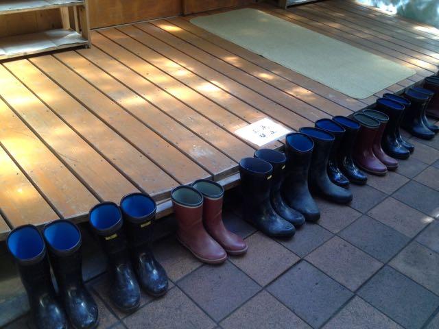 女神山ライフセンターの長靴