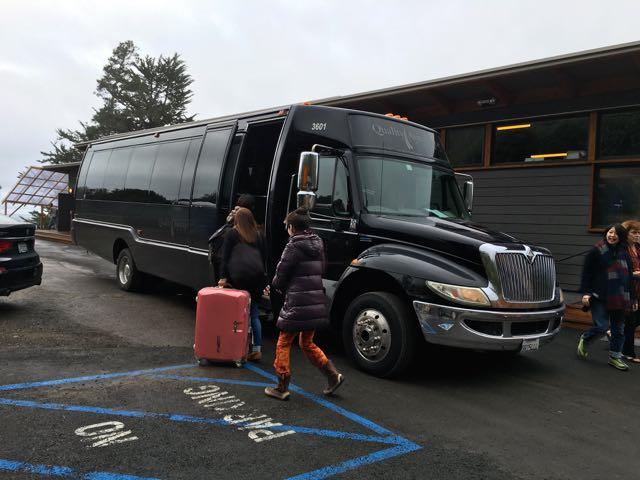 サンフランシスコへ向かうバス