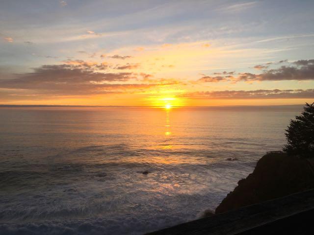 ビックサーの夕陽
