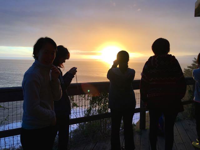 エサレン研究所の夕陽
