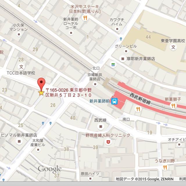 マザーズオフィススタジオ地図