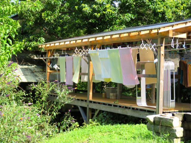 女神山の洗濯物