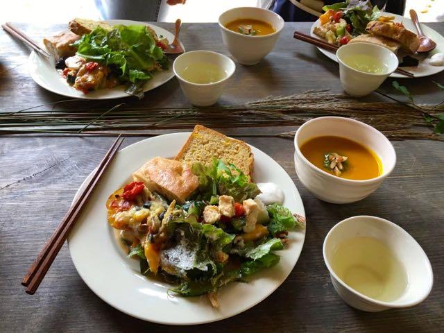 穂高養生園のマクロビオティックの食事