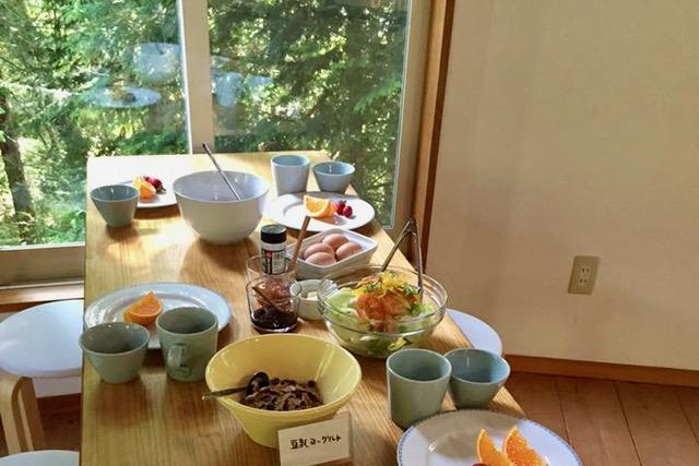 女神山の朝ごはん