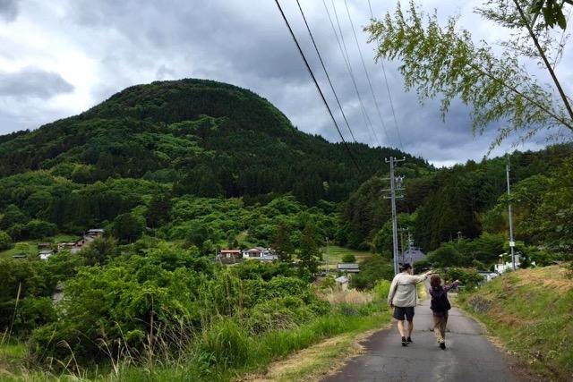 女神山の散歩。気持ちいい。